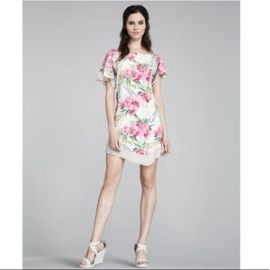 Elizabeth & James Silk Floral Multicolor Dress